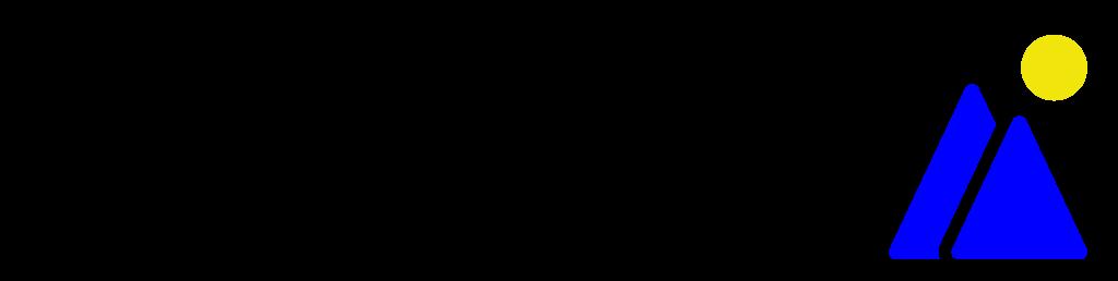 Logo van webRidge met de tekst on top of IT en een blauwe bergen met een zon